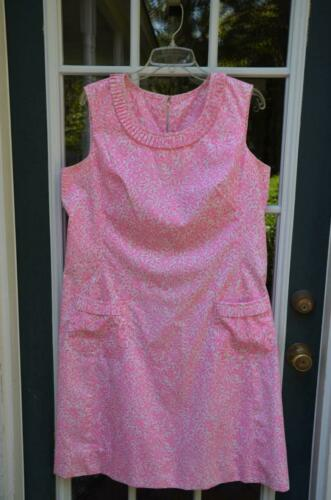 "Vtg 60s LILLY PULITZER ""The Lilly"" Pink & White Fl"