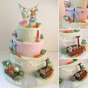 Image Is Loading Peter Rabbit Themed Cake Toppers Edible Sugar