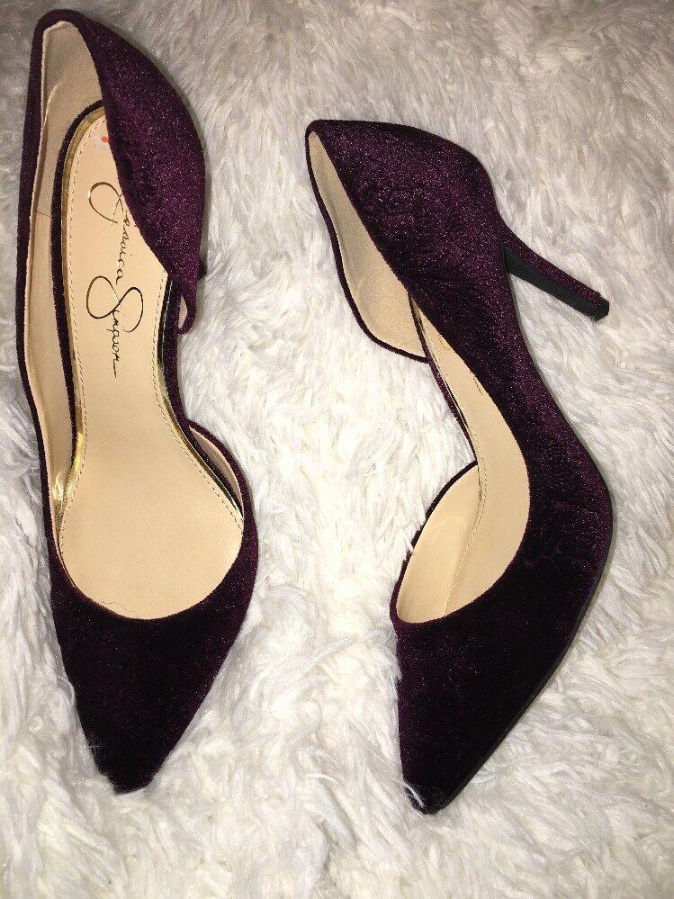 Jessica Simpson velvet pump Livvy Stiletto heels sz 9.5 m NEU