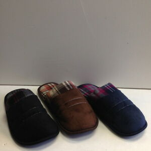 NEW-Men-039-s-Slide-Slippers-Faux-Suede-Fur-Lined-Cushioned-Warm-Shoes-Size-7-9