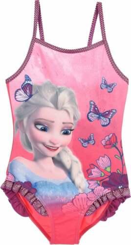 Girls Pink Disney Frozen Swimsuit Swimming Costume  Swim Suit Beach Wear Age 2-6