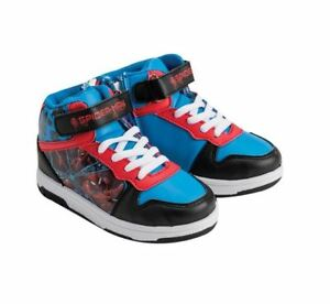 Image is loading Spiderman-Red-amp-Blue-Trainers-Sneakers-Shoes-Boys- 82785f83c