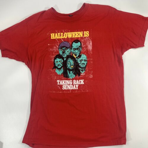 Taking Back Sunday Halloween Is - Red T-Shirt Adul