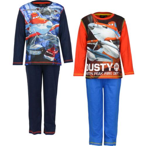 NUOVO Pyjama Set SONNO TUTA giovani PLANES AEREI BLU ROSSO 98 104 116 128 #41