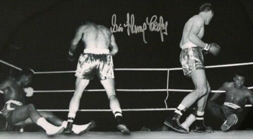 Signed Sir Henry Cooper v Cassius Clay Muhammad Ali print