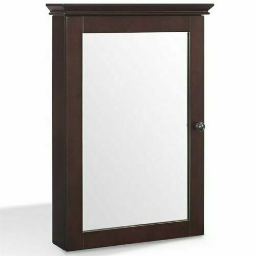 Ikea Medicine Cabinet Mirror Brown Bathroom Furniture Wood Wall Mount Caddy Shelves 793727367593 For Sale Online | EBay