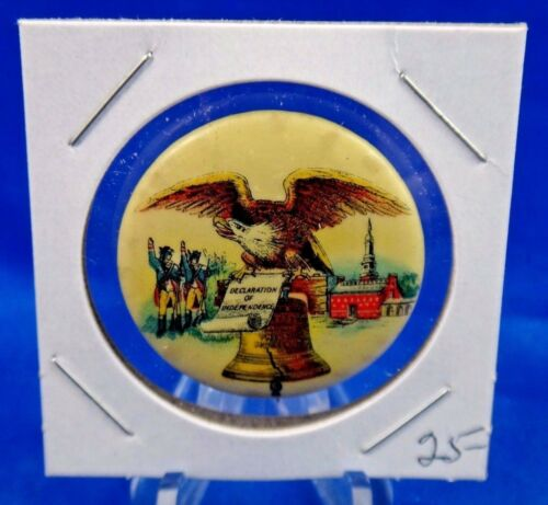 Declaration of Independence Liberty Bell Patriotic Pin Pinback Button 1 14