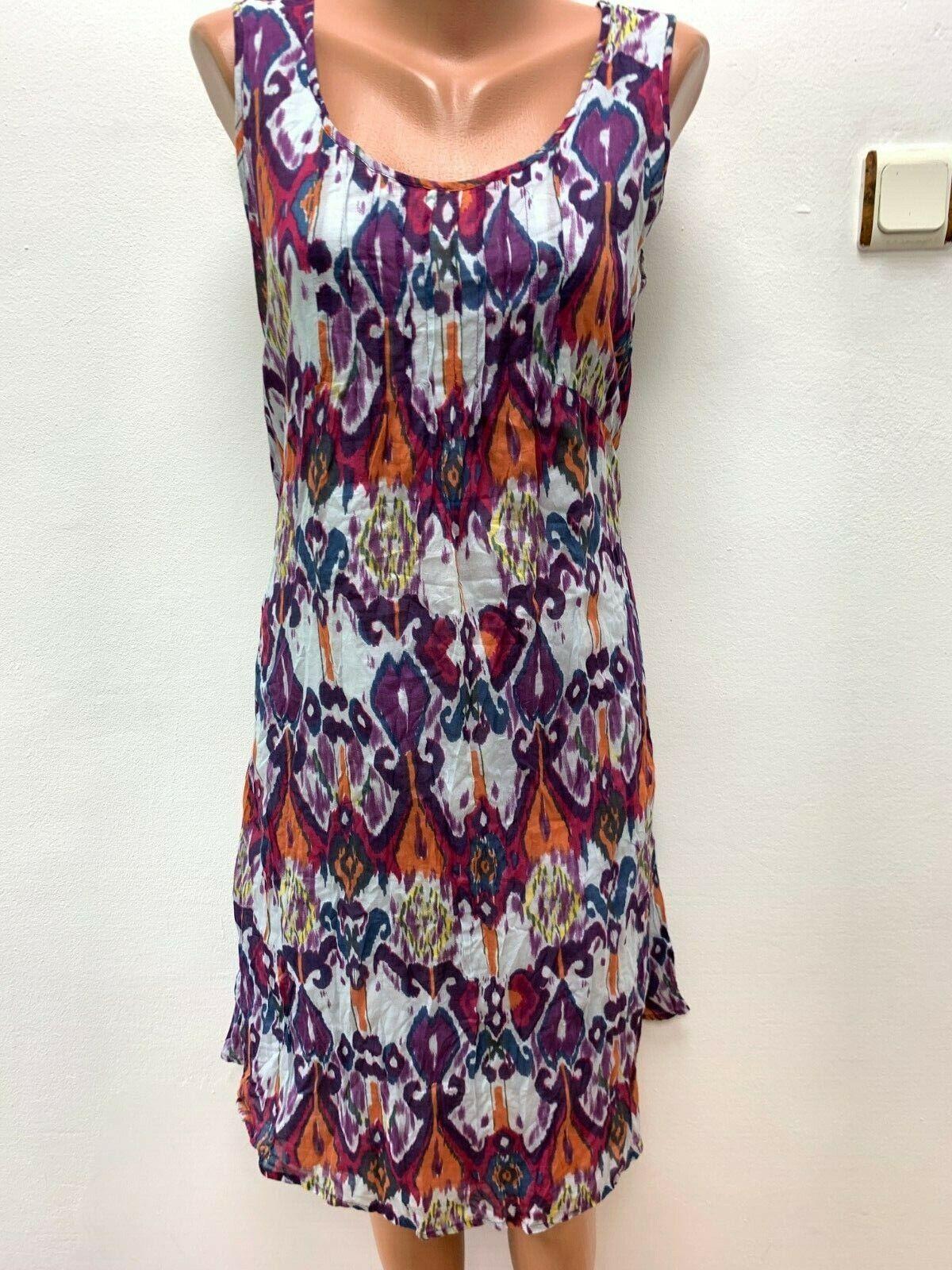 DEERBERG Gr.DE 42 - 44 Sommerkleid Kleid Mehrfarbig Midi Wadenlang