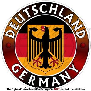 GERMANY-DEUTSCHLAND-Flag-Coat-of-Arms-German-Eagle-Deutsch-Sticker-Decal-100mm