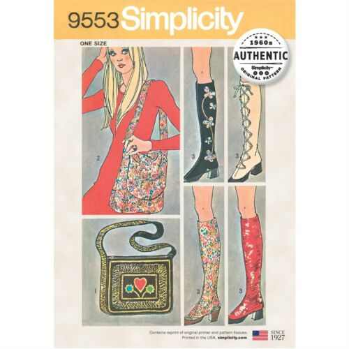 Simplicity One Size Spats And Two Bags-one Size