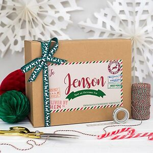 image is loading personalised christmas eve box north pole parcel kraft