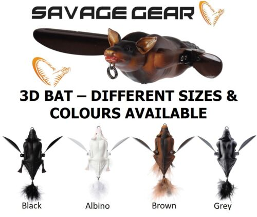 SAVAGE GEAR 3D BAT SURFACE FISHING SPINNING TOP WATER FLOATING PIKE ZANDER LURE
