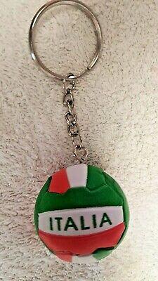 Portachiavi Palla Pallone Italia Bianco Rosso E Verde 3cm - Nuovo