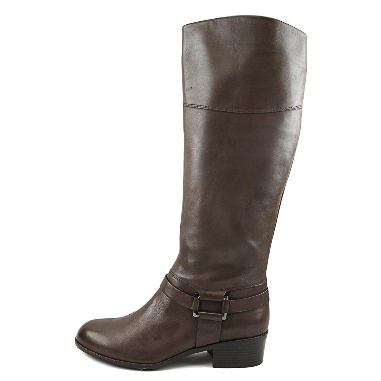 ALFINI Wouomo Biliee KneeHigh Leather Equestrian avvio DARK ROAST, Dimensione 5&5.5 W