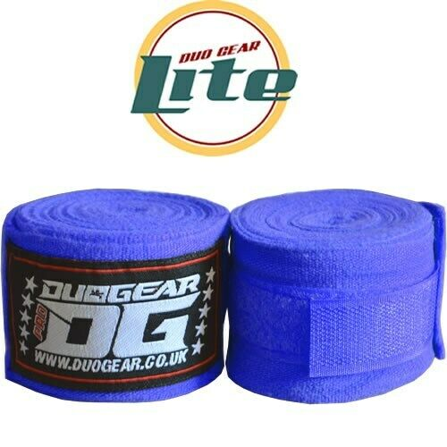 LITE BLUE DUO GEAR MMA MIXED MARTIAL ARTS THAIBOXING HAND WRAPS 2.5m
