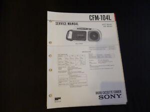 100% Wahr Original Service Manual Sony Cfm-104l