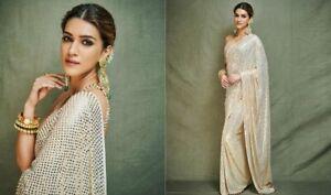 Saree-Indian-Sari-Designer-Bollywood-Wear-Blouse-Silk-Pakistani-Party-Wedding-Sc