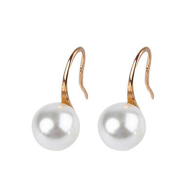 1 Paire Femmes Elégant Mode Perle Strass Cristal Boucle d'oreille Bijoux Cadeaux