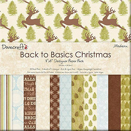 "Back to Basics Christmas Modern 48 X 8/"" x 8/"" Papers for crafts Bargain"