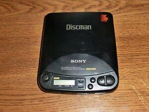 Not-Working-VINTAGE-Sony-CD-Player-Discman-D-125-Mega-Bass