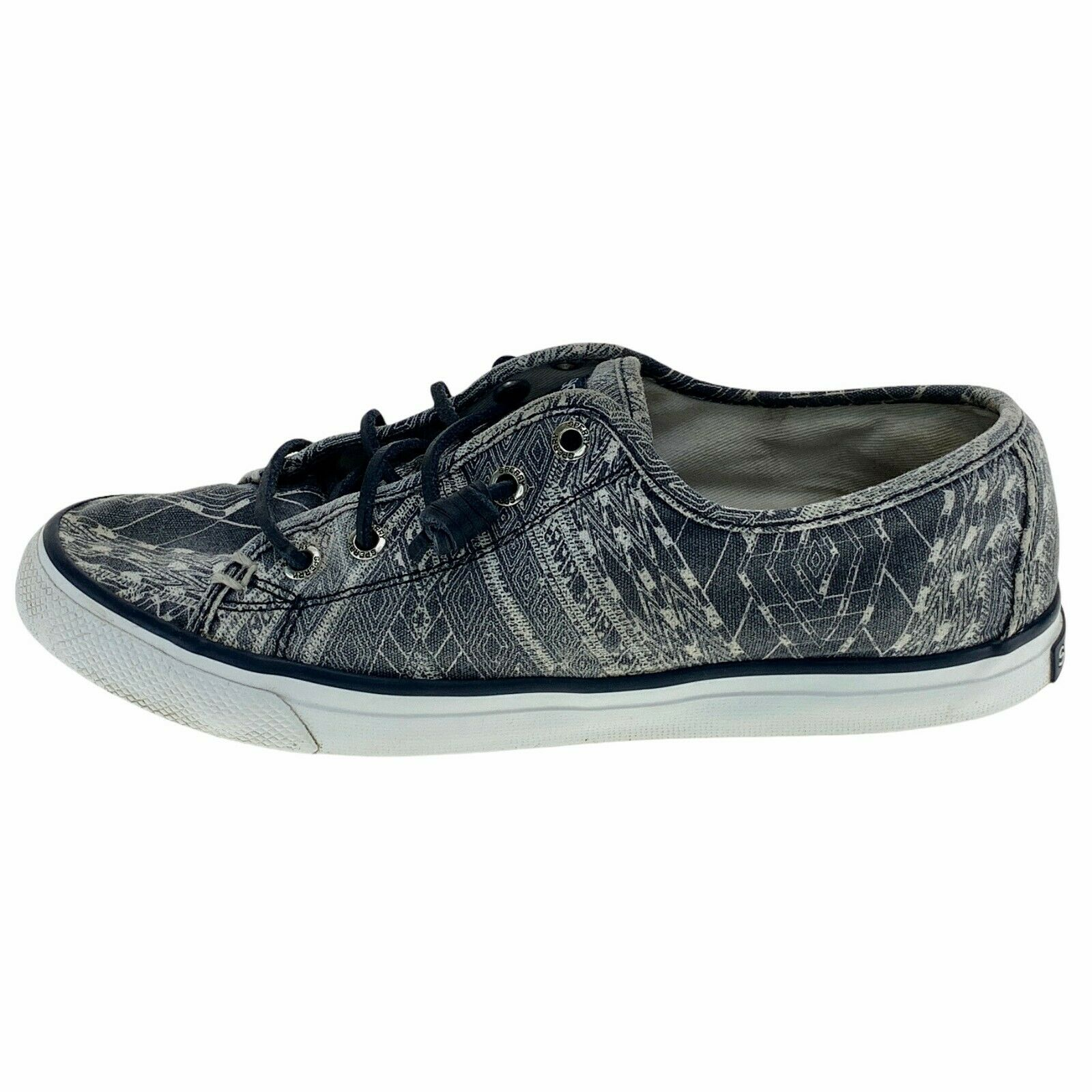 Sperry Top Sider Womens Seacoast Native STS97065 Gray Sneaker Shoes Size 6.5 M