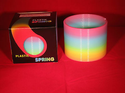 """Colorful Rainbow Plastic Magic Coil Spring Glow-in-the-Dark Children's Toy 3"""""""