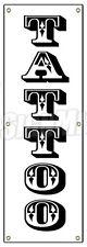 """72"""" TATTOO BANNER SIGN (Vertical) shop artist body modification art piercing"""