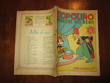 WALT DISNEY ALBO D'ORO N°27 TOPOLINO SIGNORE DEI GENII 9-11-1946