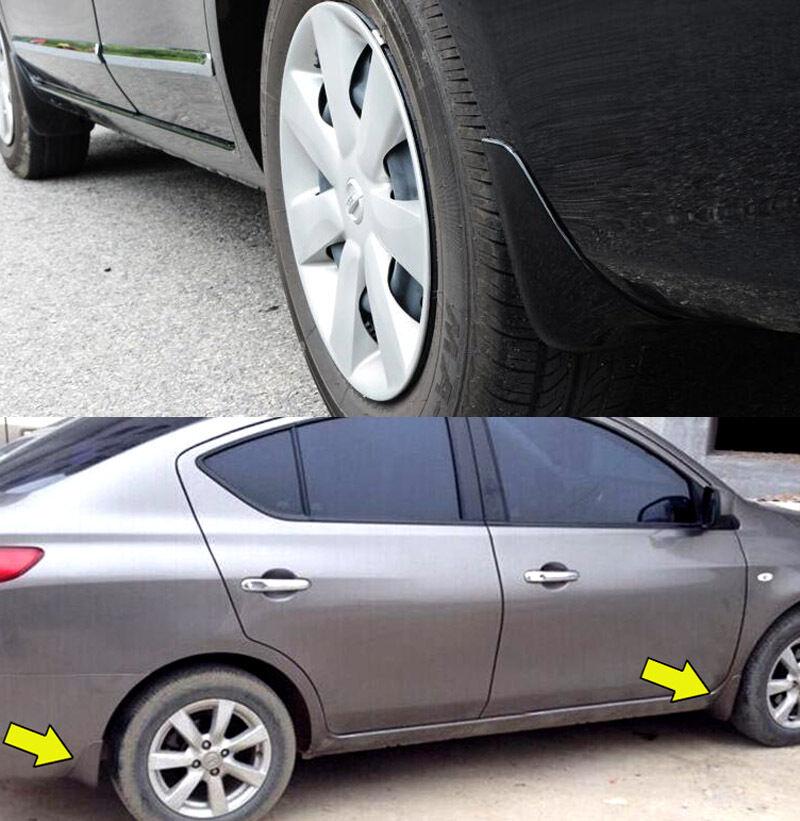 MUD FLAP FLAPS SPLASH GUARDS MUDGUARDS 4PCS for Nissan VERSA SEDAN 2014-2017