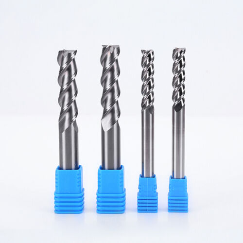 Solid Carbide End Mill Cutter 1-20mm 3 Flute Slot Drill Bit HRC58 for Aluminium