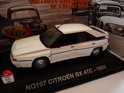 voiture UNIVERSAL HOBBIES NOSTALGIE 1/43 : CITROËN BX 4TC 1986