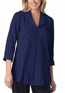 Crinkle-Tunika-Bluse-Shirt-blau-Women-Within-Gr-44-46-52-54-56-58-60-62-68-70