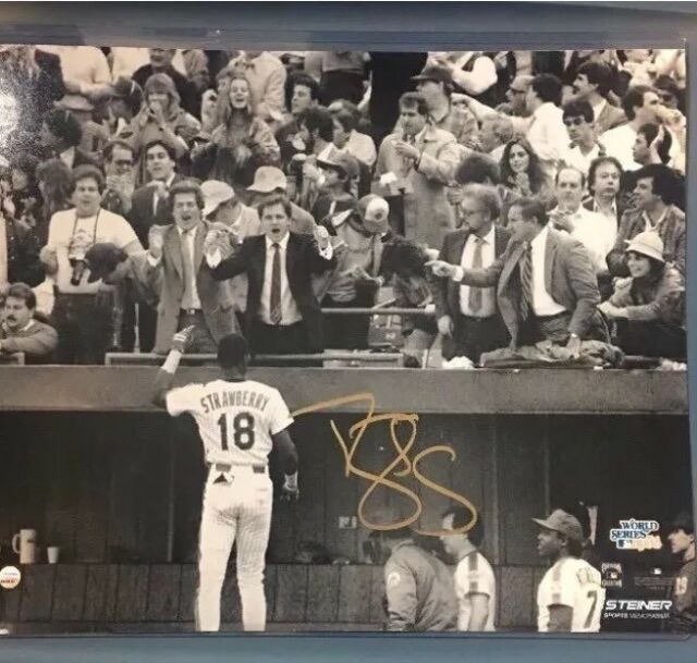 Darryl Strawberry NY Mets 1986 World Series Signed Autographed Photo Steiner COA