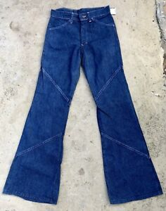 56afc3f243b Vintage Mens Bell Bottom Denim Jeans USA Made RARE Style 30 X 33 ...