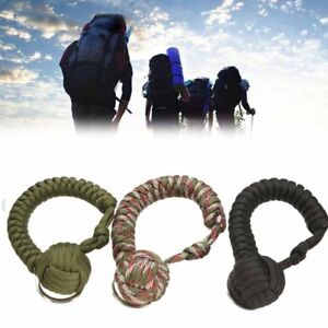 Monkey-Fist-Paracord-Keychain-Keyring-Military-Steel-Ball-Survival-Outdoor
