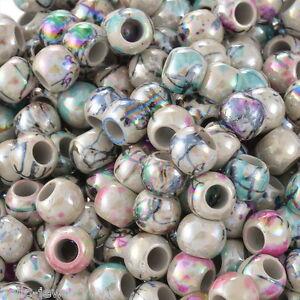 GS-500-Neu-Mix-Rund-Blumen-Acryl-Spacer-Perlen-Beads-Zwischenperlen-8mm