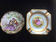 DOLL MINI VICTORIAN Painted Arnart Fragonard Love Story Plate FRANCE LIMOGE 2