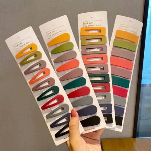 10//PCS Colorful Hair Pins Clips for Women Girls Matte Snap Bangs Clip Barrette