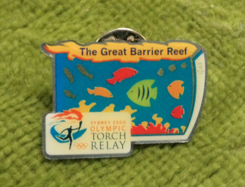 2000 OLYMPIC TORCH RELAY PIN GREAT BARRIER REEF