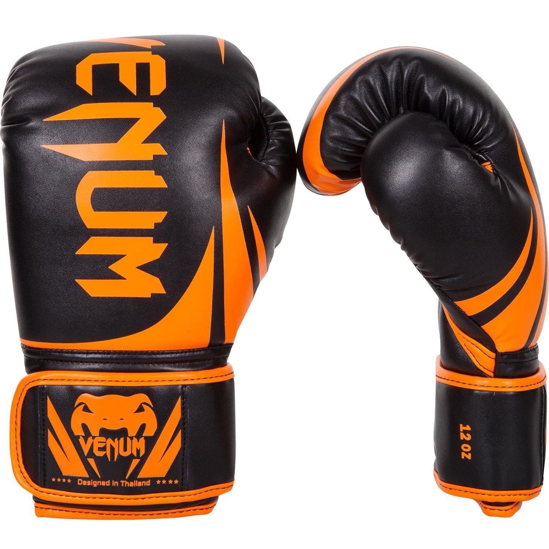 Venum MMA Challenger 2.0 Boxing Gloves Neo Orange MMA Venum Sparring Muay Thai Gloves 12oz bec561