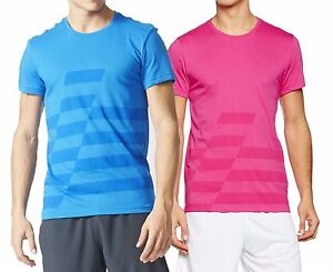 New-adidas-UFB-Mens-PolyCotton-Crew-T-Shirt-XS-to-XL-Blue-Pink-sports-gym-casual