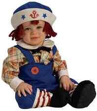BOYS RAG RAGGEDY ANDY DOLL COSTUME HAT WIG  SOCKS DRESS 12113 12115 NEW