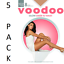 WOMENS 5 PACK VOODOO Glow Sheer to Waist Sheers Stockings Shapewear Underwear