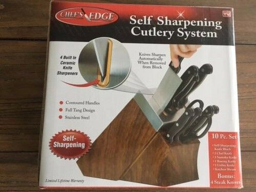 Chef S Edge Self Sharpening Cooking Knives Knife Blocks As Seen On Tv New Ebay