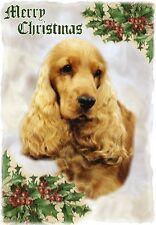Cocker Spaniel Dog A6 Christmas Card Design XCOCKER-10 by paws2print