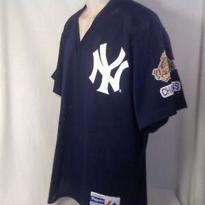 VINTAGE NY YANKEES JERSEY XL MENS 1996 WORLD SERIES CHAMPIONS MLB ... b4052bffd