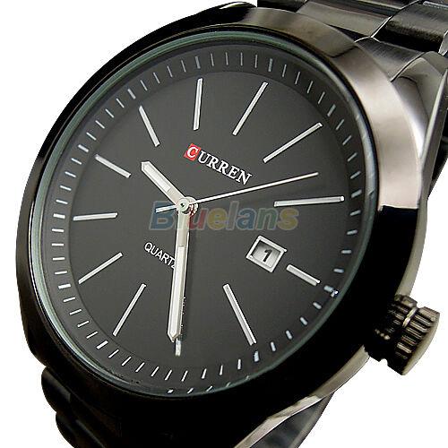 CURREN Mens Luxury Waterproof Quartz Hours Date Calendar Cool Steel Wrist Watch