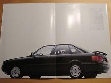 Audi 90 quattro Prospekt, brochure, cataloque, 8/87