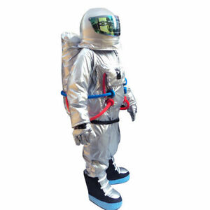 Spaceman-Mascot-Costume-Astronaut-Adult-Size-Dress-Cosplay-Halloween-Fancy-Party