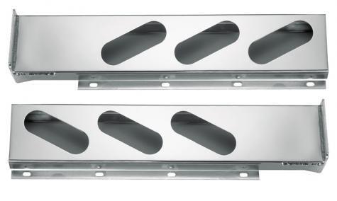 Chrome Mud Flap Hanger Rear Bar w// Oval Light Cutouts